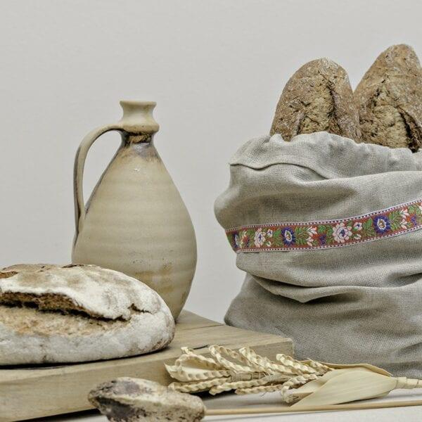 Ľanové vrecúško na chlieb
