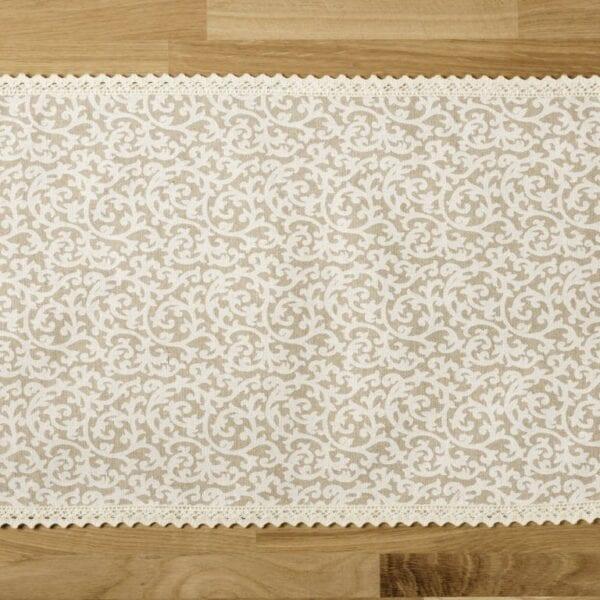 Prestieranie - biely ornament s čipkou