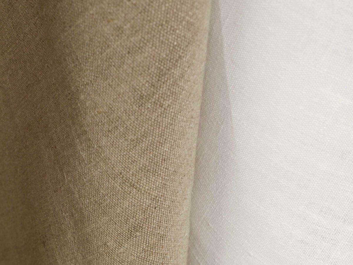Utěrka – Len, natur&white, balení 2 ks