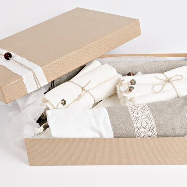 Darčekové balenie - ľan režný