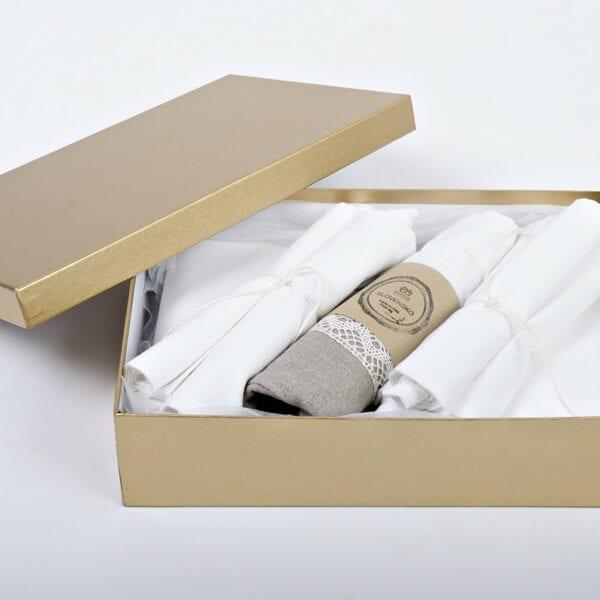 Darčekové balenie - biela bavlnená kolekcia