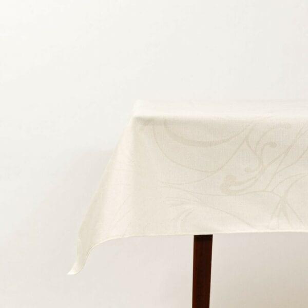 Obrus - Biely jemný ornament Jacquard
