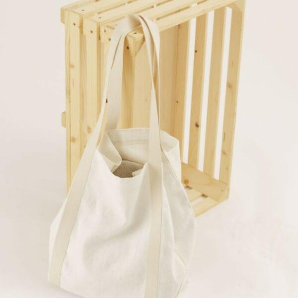 Ľanová taška biela