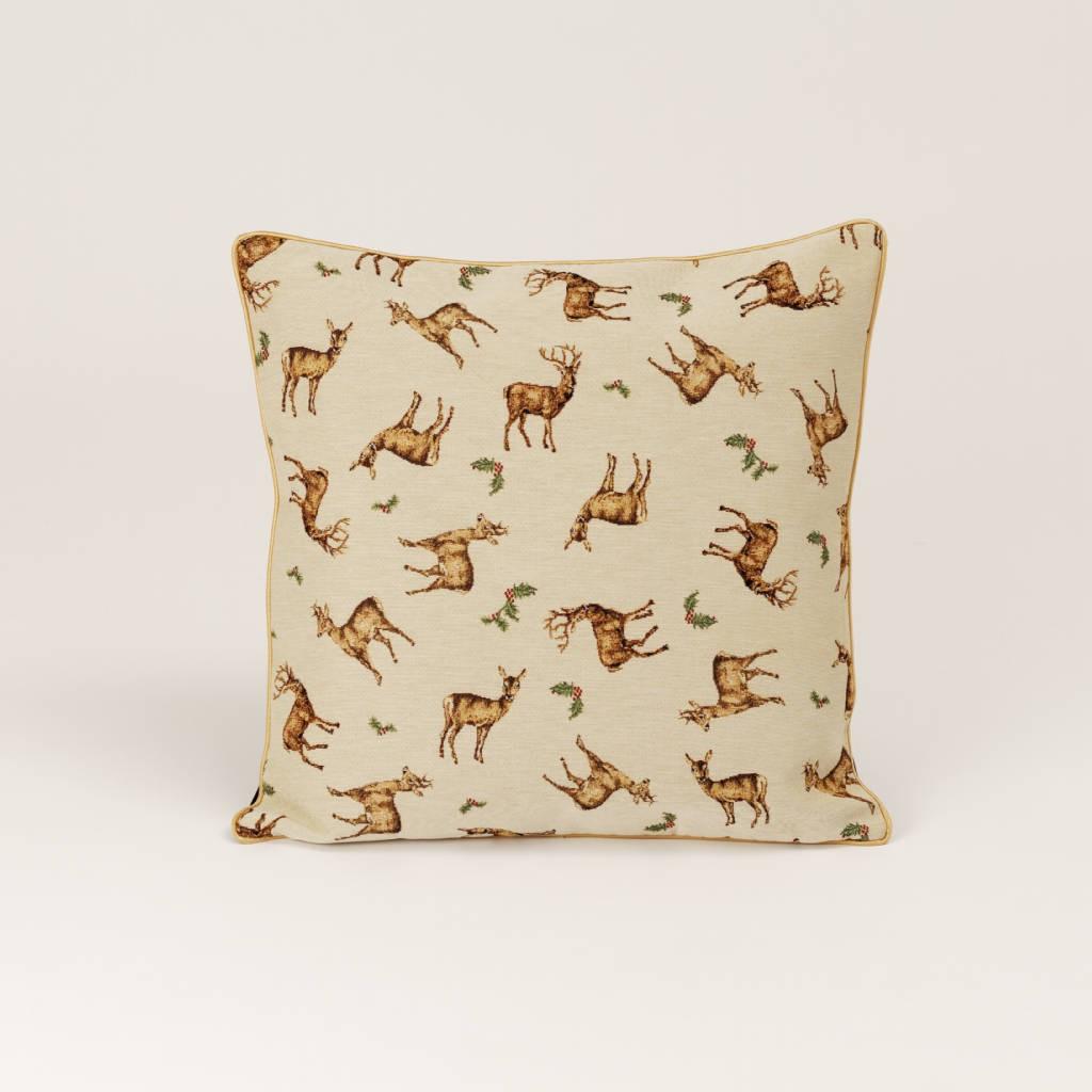 Gobelínový vianočný vankúš srnky a jelene