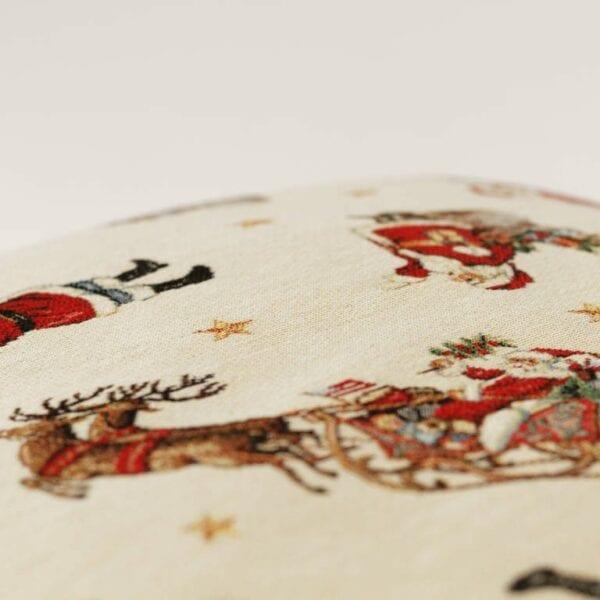 Gobelínový vianočný vankúš malý santa