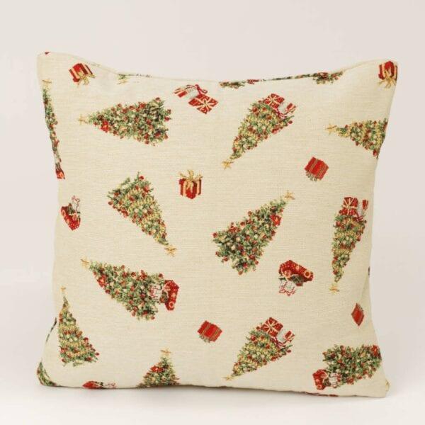 Gobelínový vianočný vankúš - malé stromčeky