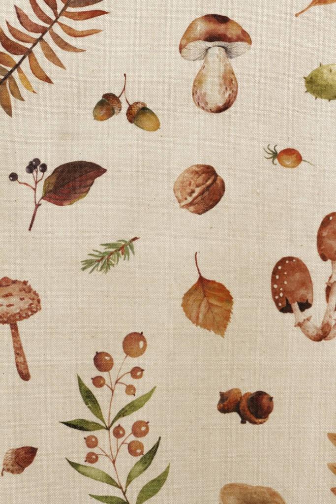 Obrus bavlna - hríby