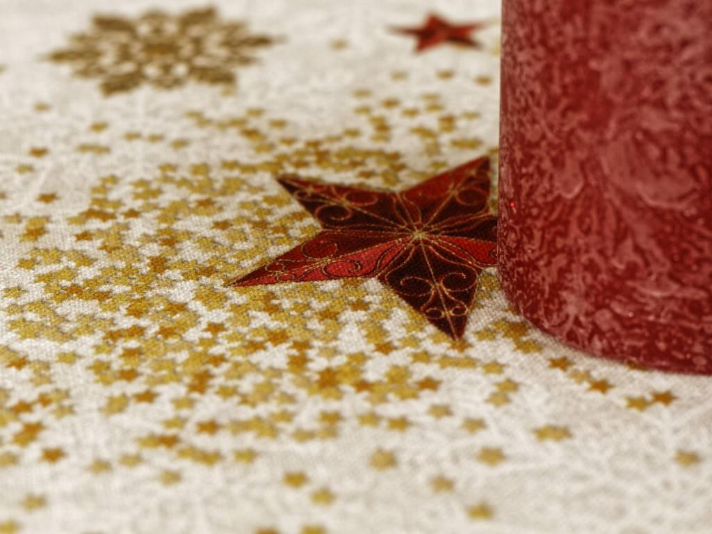 Obrus - červená hviezda