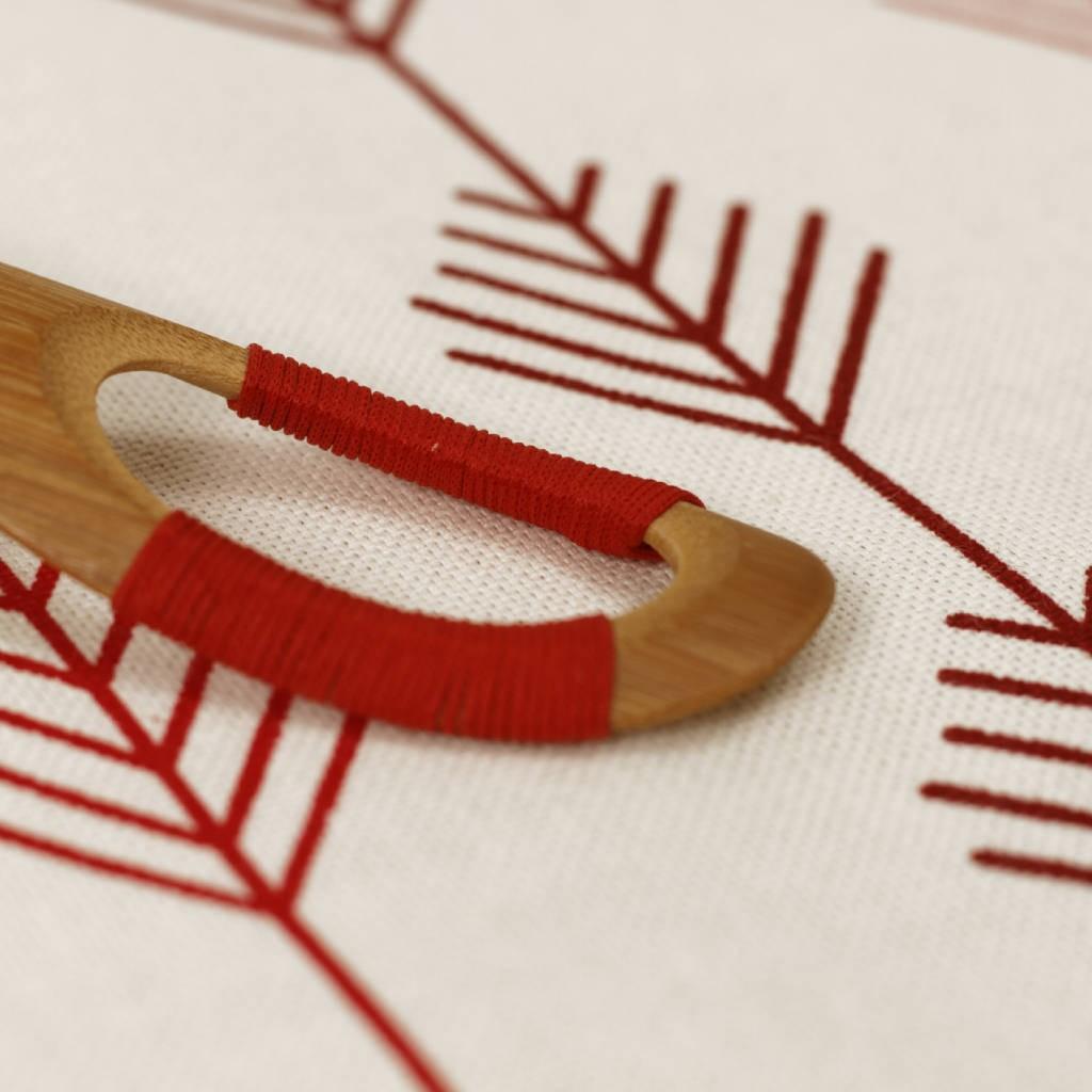 Obrus bavlna - červené stromčeky