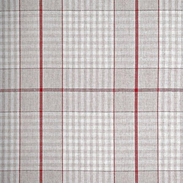 39 - Bavlna káro - pásik červený