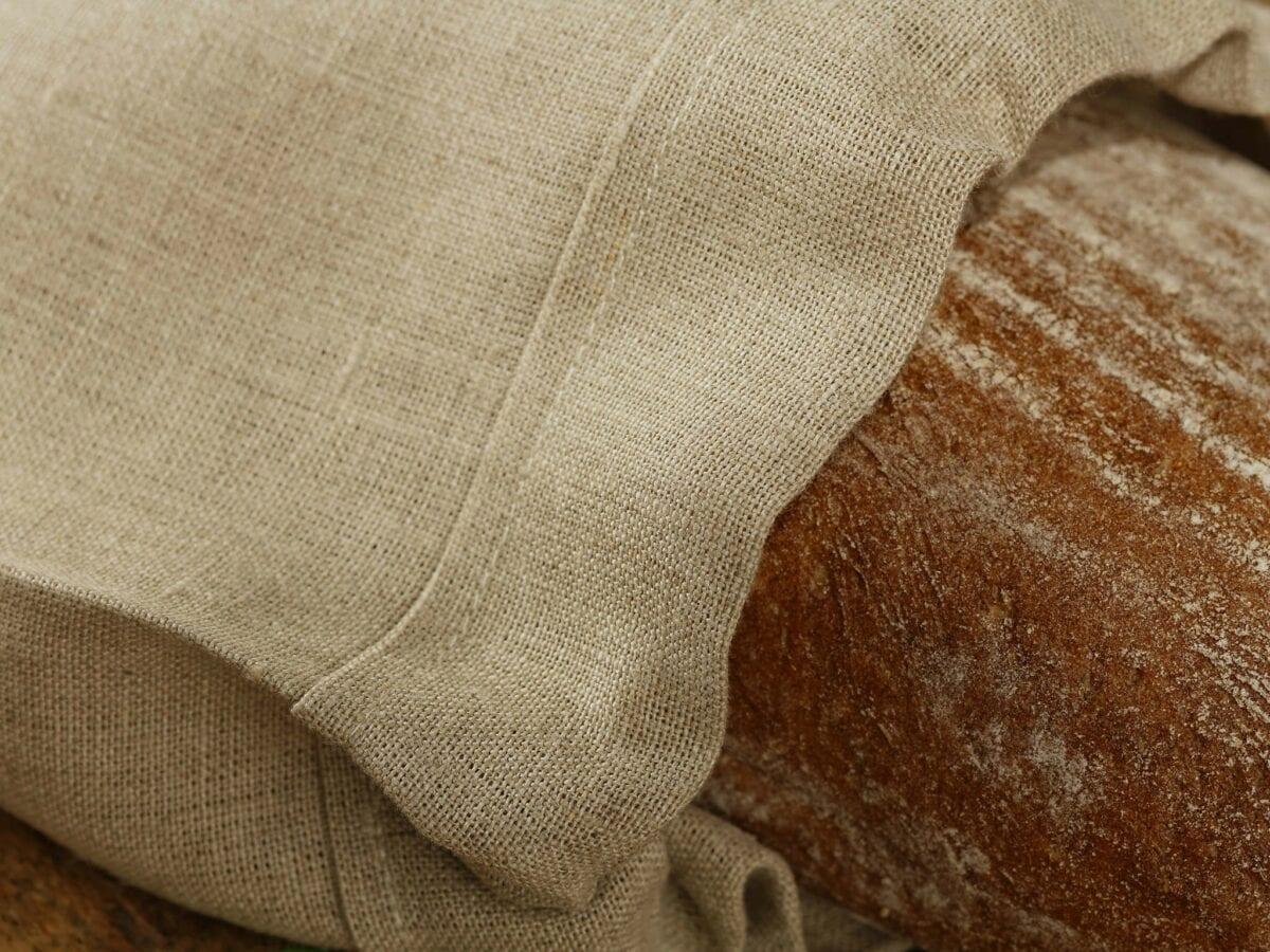 Ľanové vrecúško na chlieb - Natur/Ivory