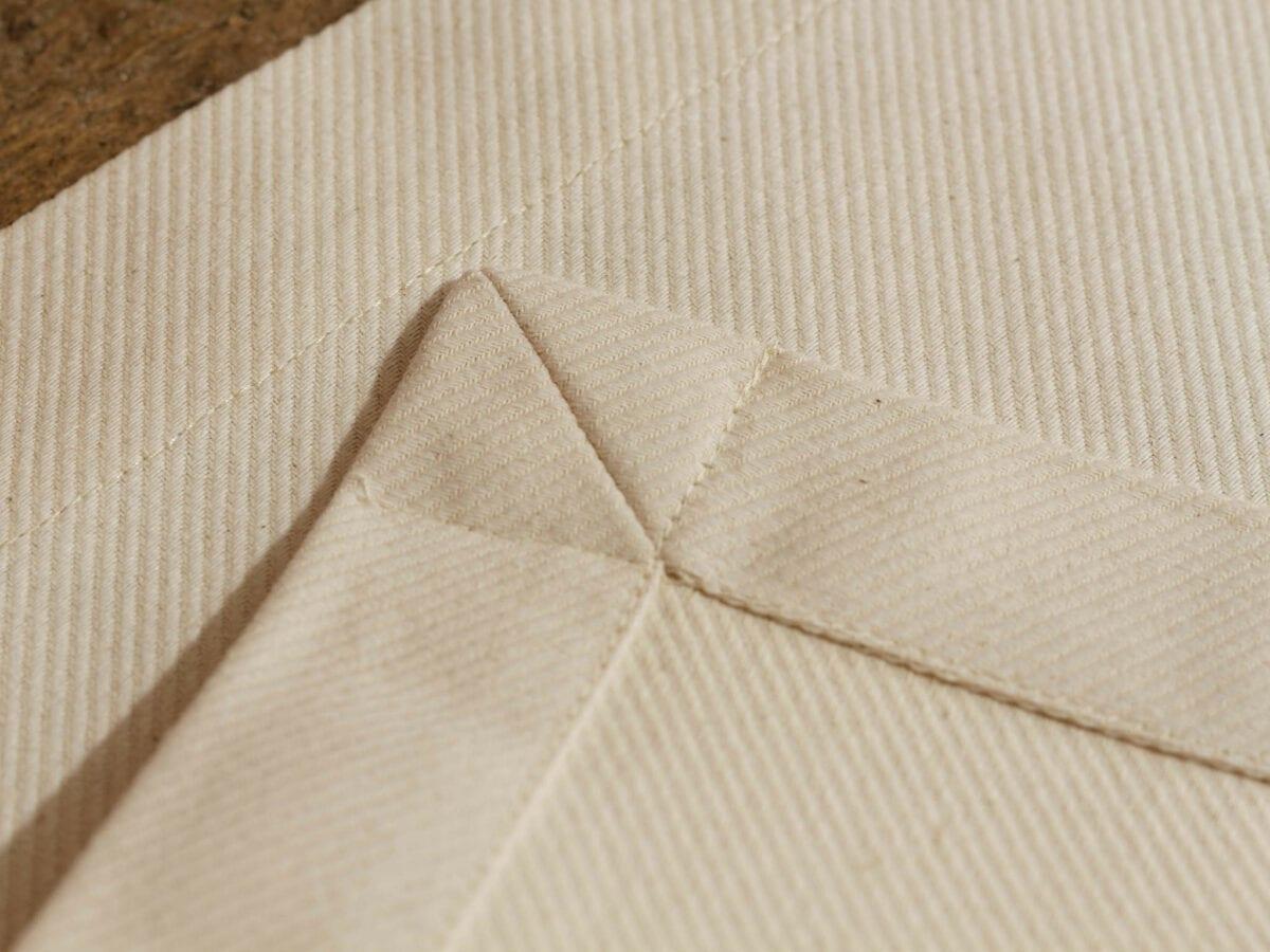 Prestieranie 2ks - jacquard twill white