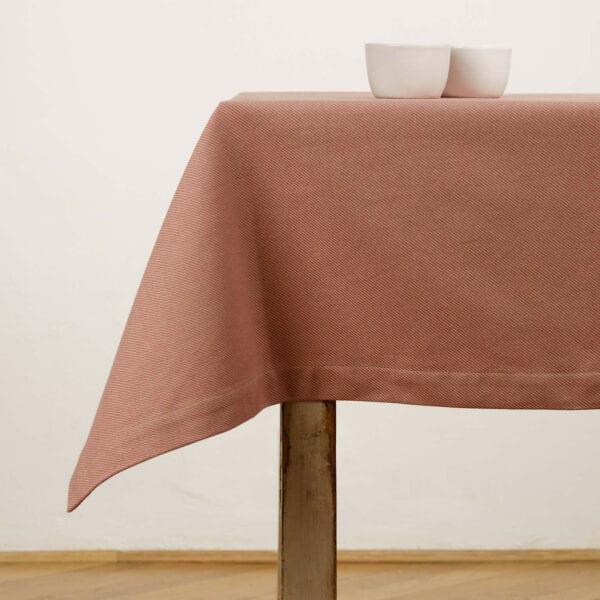 Obrus - Jacquard twill pink