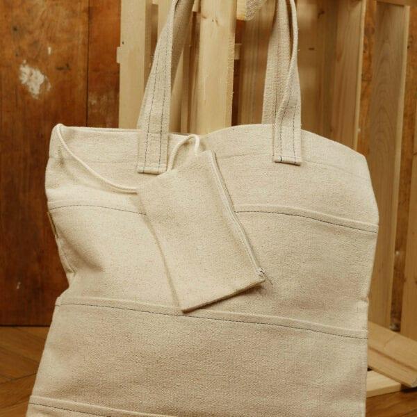 Ľanová taška s peňaženkou