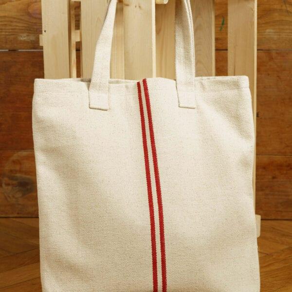 Ľanová taška- Josephine Red