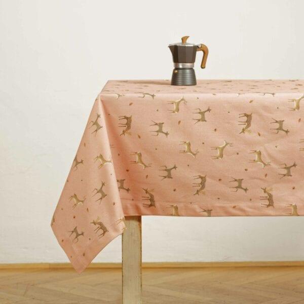 Obrus – Ružové srnky